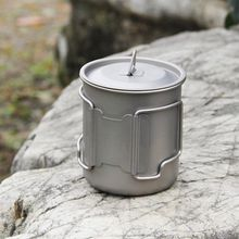 300ml 450ml 600ml Titanium Outdoor Cup Sports Pure Titanium Portable Portable Water Mountable Titanium Cup