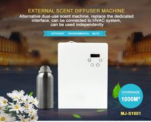 Large commercial hotel shopping mall essential oil diffuser connected to HVAC scent diffuser machine aromatic fragrance diffuser