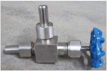 Angle type stop titanium valve