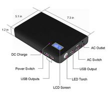 240V 24000mAh Multi-Function Laptop Power Bank With 1 AC Outlet And 3 USB Ports Portable External Battery Pack Travel Charger
