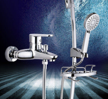 Carbey bathroom shower shower head with shower head and water valve faucet