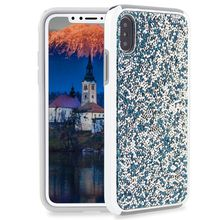 Premium bling 2 in 1 Luxury diamond rhinestone glitter back cover phone case For iPhone X 8 7 5 6 6s plus Samsung s8 note 8 cases wholesale