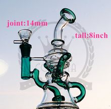 Hitman Glass Bongs Classic Brilliance Cake Dab Rigs Thick Birdcage Recycler Oil Rig Wholesale Water Pipes with 14mm joint