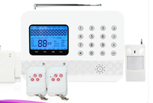 GSM mobile phone card/fixed-line network alarm host
