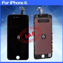 100% Tested LCD Display Touch Digitizer Complete Screen with Frame Full Assembly Replacement for Grade AAA iPhone 6 free shipping