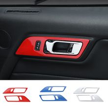 Car Styling Interior Accessories ABS Door Handle Decoration Frame Cover Trim Fit For Ford Mustang 2015-2016