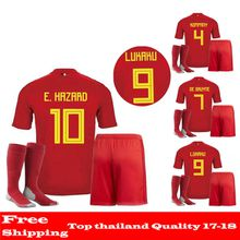 AAA quality Belgium 2018 World Cup kit Home football shirt LUKAKU KOMPANY DE BRUYNE E.HAZARD Soccer wear 18 19 Belgium soccer set