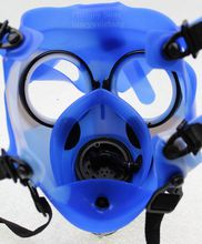 Gas Mask Bong Hookah Pipe Tobacco Bong Shisha Silicate Mask Acrylic Tube Freeshipping