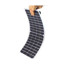 ELEGEEK 10W 18V Semi Flexible Monocrystalline Solar Cell Panel PET Laminated Matte Finish Solar Cell with Alligator Clip for Solar System