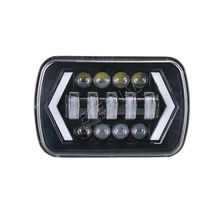 6x7inch 54W LED headlight truck trailer motorcyle offroad 4x4 equipment hi low beam with DRL and amber turn signal