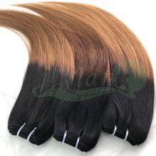 100% Human remy hair weft cor 4/27 35cm Brazilian Hair