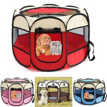 Travel Transport Training Dog Supplies Pet Bed Kennel House Cage Oxford Folding Crate Puppy Fabric Steel