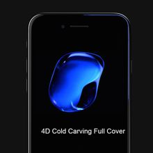 For iPhone 6 Plus Tempered Glass Screen Protector Film For iPhone 8 X 4D 0.20mm Ultra-thin Screen Protector Free Shipping