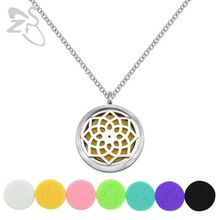"""Free shipping Aromatherapy Essential Oil Diffuser Necklace Locket Pendant 316L Stainless Steel Jewelry with 24"""" Chain and 6 Washable"""