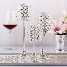 European romantic crystal candlestick Living room table home decoration Wedding fashion creative gift