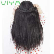 VIYA Brazilian Hair Bundles Straight Unprocessed Brazilian Straight Virgin Human Hair Weave 3pcs Dyeable Hair Extensions