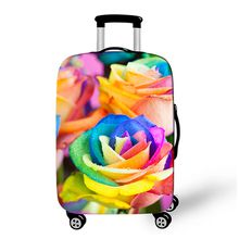 Sale Customized Brand New Quality Popular Fashion Flower Water Lily Women Protect Spandex Elastic Flower Suitcase Cover