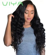 VIYA HAIR 3 Bundles Unprocessed Brazilian Virgin Deep Wave Human Hair Weaves Hair Bundles Natural Black WY905Y