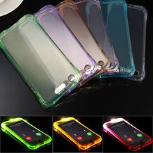 Clear Back Cover Soft TPU LED Case light Call Incoming flashing Cell phone Cases Cover for ipone Samsung