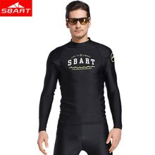 SBART 2017 New Men Top Lycra Long Sleeve Surf Swim Wear Shirt UV Protection Water Sports Sunscreen Diving Swimming Suit Plus Size