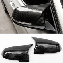 New Horn tip Style Carbon fiber Wing Replacement Rearview mirror cover Fit For BMW F20 F30 F22 F32