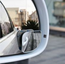 Small Round Mirror 2pcs/set Car Accessories Car Rearview Mirror Blind Spot Wide-angle Lens 360 degree Rotation Adjustable