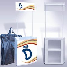 Smart Expo Portable Store Sales Counter Promotion Table Plastic Frames Carry Bag Packing Printing Graphics Available