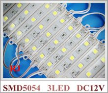 super bright SMD 5054 LED module LED advertising light module for sign letter DC12V 3led 3*0.4W 1.2W 150lm IP66 waterproof