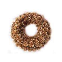 Alldeco Golden Pinecon Wreath