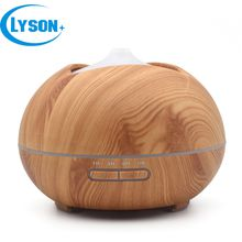 3 In 1 LED Light 400ml Capacity Ultrasonic Essential Oil Aromatherapy Diffuser Cool Mist Wood Grain Air Purifier Aroma Humidifier Diffuser