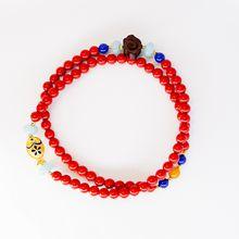 Multi bracelet necklace, pure Handmade, polished stone unique, infinite charm