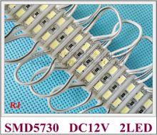 26mm*07mm 2 led SMD 5730 LED module light lamp LED back light for mini sign and letters DC12V 2led IP65