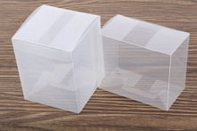 wholesale custom offset printing clear PET/PVC/PP folding food small clear Plastic packing box for Event Gift Craft