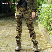 FreeArmy Brand Winter Womens Pants Cotton Straight Slim Military camouflage Pants & Capris Outdoors GK-9372C