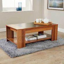 Modern wooden white Coffe Design MDF Round Coffee Table
