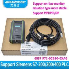 Compatible Siemens S7- 200 300 400 6ES7972-0CB20-0XA0 USB-MPI+ Optical Isolation Type DP/MPI/PPI PROFIBUS USB-MPI PPI DP PLC Cable