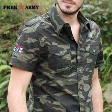 Summer Men Shirt Military Men Short Sleeve Shirt Casual Shirt Mens Brand Social Clothing Vetement Homme Camisa Social Masculina MS-6558C