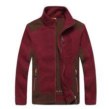 Big Size L-7XL Thermal Fleece Jacket Men Autumn Outdoor Sport Outerwear Windstopper Warm Thicken Hiking Jackets Coats