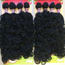 Synthetic hair weft natural wavy JIXIANGHAIR