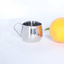 High quality 304 stainless steel coffee or wine beautiful small round cup food grade with handle