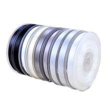 Double Sided Satin Ribbon 196 Colours Black White Color System 3mm-100mm Width 100yards/Full Roll Reel 100% Polyester High Quality Wholesale