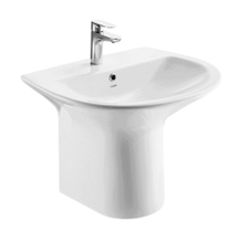 Ceramic round full pedestal washbasin