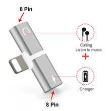 Dual 2in 1 for Lightnig Adapter Charging Adapter For iPhone 8 7 Plus X 10.3 11 Charger Splitter Headphone Adapter Converter
