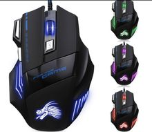 High-end 5500DPI A908 Wired LED Optical Gaming Mouse Fire Button 7Keys DPI switcher Gamer Mouse For PC LAPTOP With Retail BOX