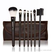 YASHENA-MALL(TM) Makeup Brushes Tools Premium Makeup Brush Set Synthetic Kabuki Cosmetics Face Powder Brush Makeup Brush (7pcs/Bag, Black)