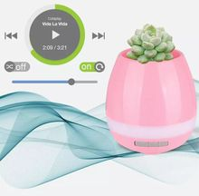 Smart Bluetooth Speaker for Music Flower Pots Office Decoration Music Green Plant Vase Touch Intelligent Induction Creative Wireless Speaker