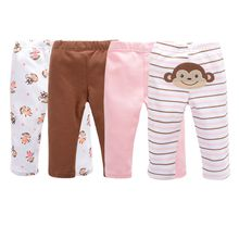 Newborn Baby Boys Baby Autumn Bebe Legging 100% Cotton Girls Embroidered Animals PP Pants Trousers Infant Clothing
