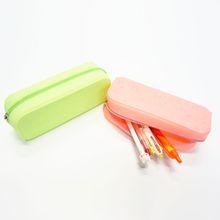 Soft Silicone Student Silicone Rubber Pencil Bag/Pen Case