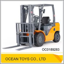 Die-Cast freewheel funny 1:20 truck toy forklift with multifunction