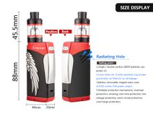100% original Lover TC 80W PLUS box mod fit 18650 battery vape mods vaporizer With 23mm atomizer, seamless link,